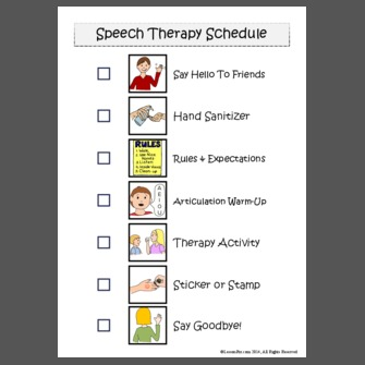 Speech Therapy Schedule