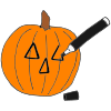 Draw Pumpkin Face Picture