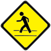 Crosswalk+in+Yellow+means+pay+attention. Picture