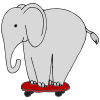 Elephant on a Skateboard Picture