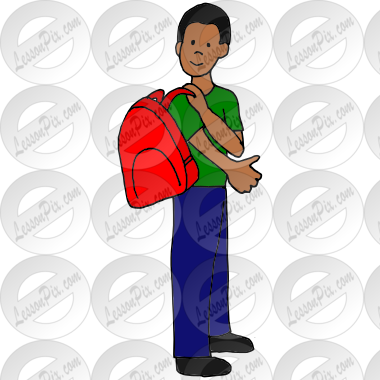 Put on Backpack Picture