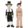 Pilgrim and Indian Picture