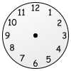 Blank Clock Picture