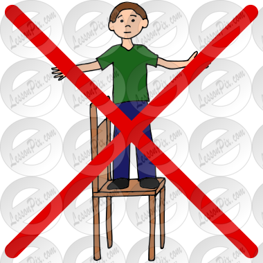 Do Not Stand on Chairs Picture