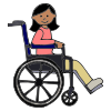 Girl in Wheelchair Picture