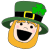 Excited Leprechaun Picture