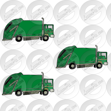 3 garbage trucks Picture