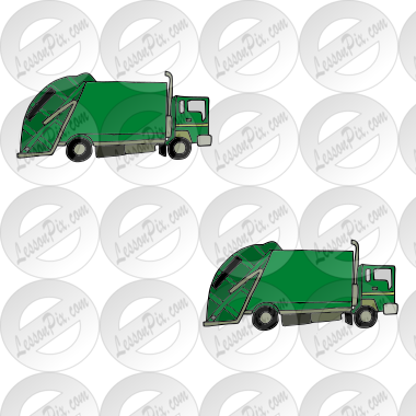 2 garbage trucks Picture